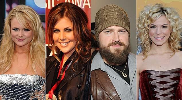 Miranda Lambert, Hillary Scott, Zac Brown, Kimberly Perry