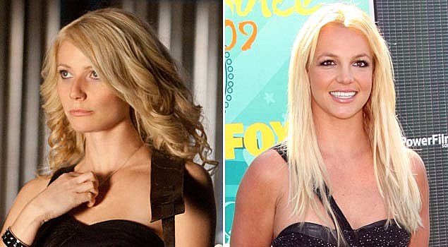 Gwyneth Paltrow in 'Country Strong' and Britney Spears