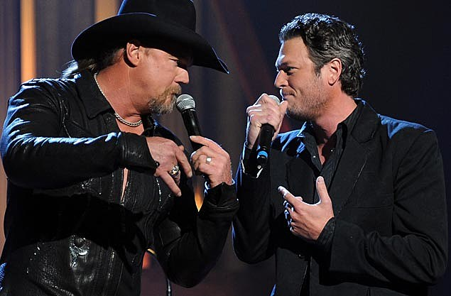 Trace Adkins and Blake Shelton