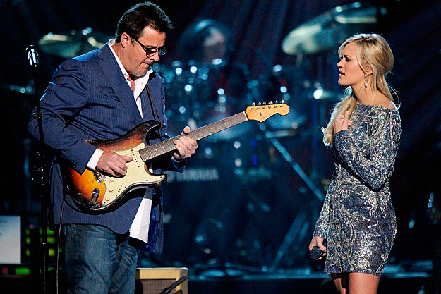 Vince Gill and Carrie Underwood