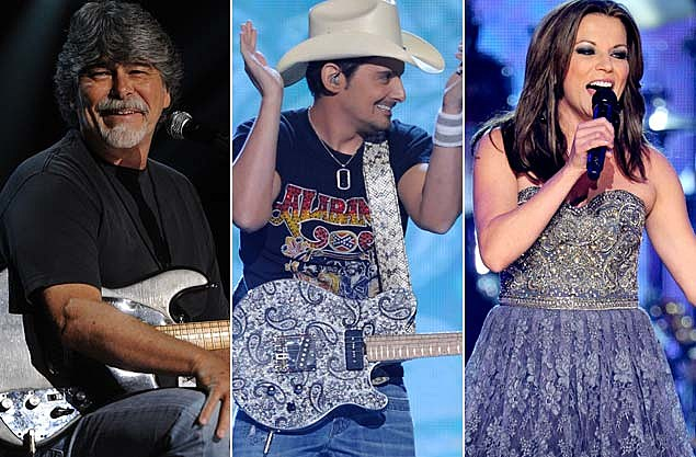 Randy Owen of Alabama Brad Paisley Martina McBride