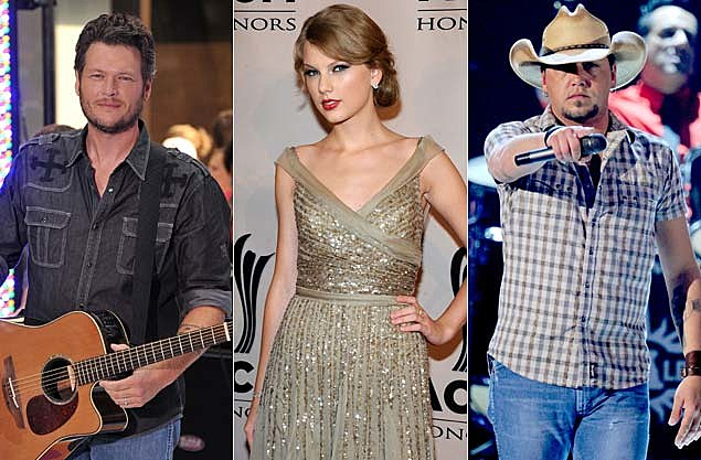 Blake Shelton, Taylor Swift, Jason Aldean