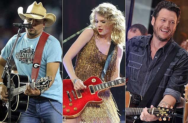 Jason Aldean, Taylor Swift, Blake Shelton