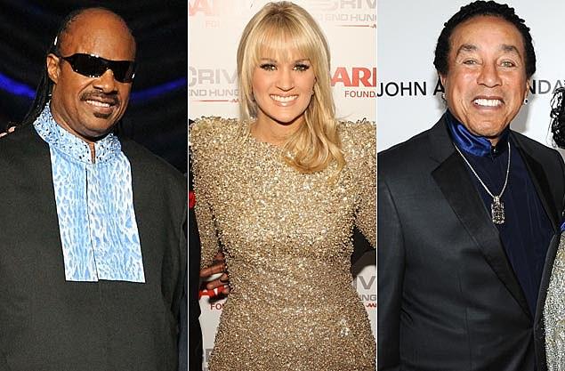 Stevie Wonder, Carrie Underwood, Smokey Robinson