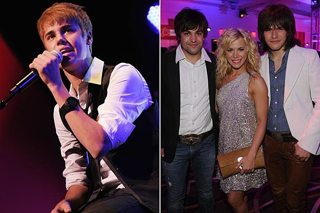Justin Bieber, the Band Perry