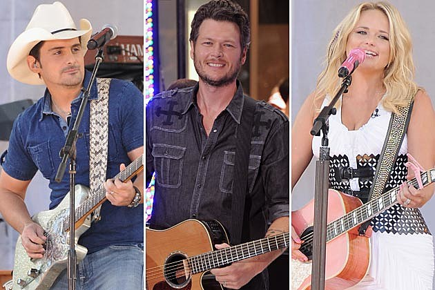 Brad Paisley, Blake Shelton, Miranda Lambert