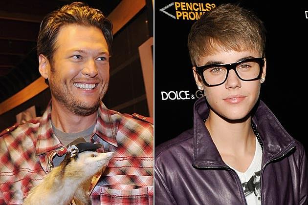 Blake Shelton, Justin Bieber