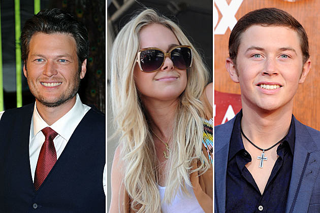 Blake Shelton, Laura Bell Bundy, Scotty McCreery