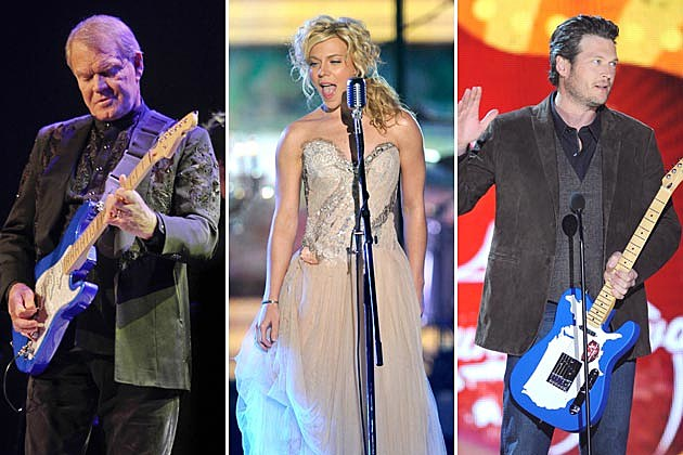 Glen Campbell, Kimberly Perry, Blake Shelton