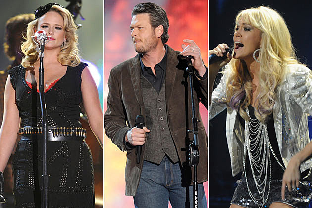 Miranda Lambert, Blake Shelton, Carrie Underwood