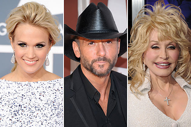 Carrie Underwood, Tim McGraw, Dolly Parton