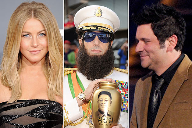 Julianne Hough, Sacha Baron Cohen, Jay DeMarcus