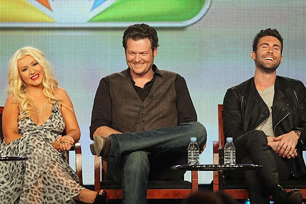 Christina Aguilera, Blake Shelton, Adam Levine