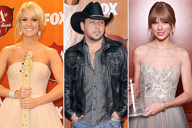 Carrie Underwood, Jason Aldean, Taylor Swift