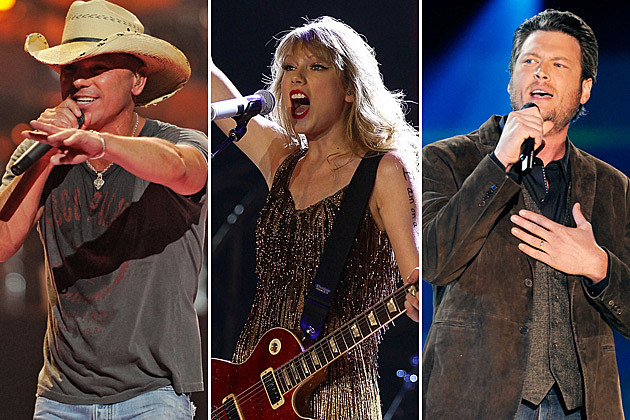 Kenny Chesney, Taylor Swift, Blake Shelton