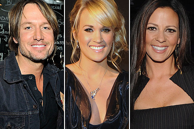 Keith Urban, Carrie Underwood, Sara Evans