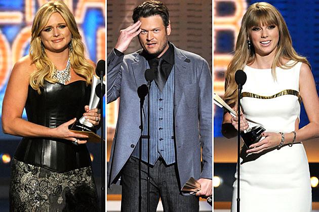 Miranda Lambert, Blake Shelton, Taylor Swift