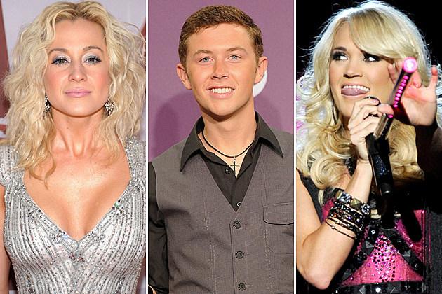 Kellie Pickler, Scotty McCreery, Carrie Underwood