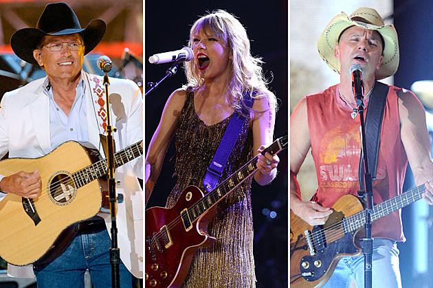 George Strait, Taylor Swift, Kenny Chesney