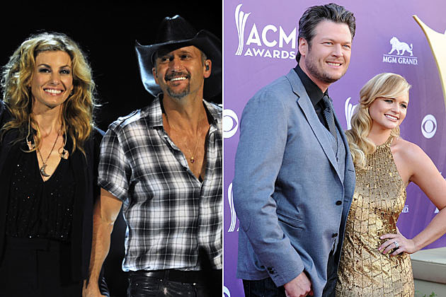 Tim McGraw, Faith Hill, Blake Shelton, Miranda Lambert