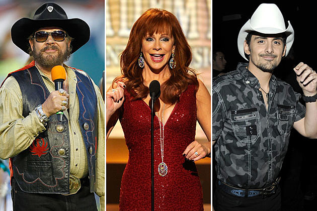 Hank Williams Jr., Reba McEntire, Brad Paisley