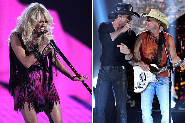 Carrie Underwood, Kenny Chesney, Tim McGraw