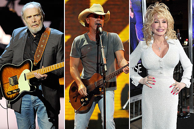 Merle Haggard, Kenny Chesney, Dolly Parton