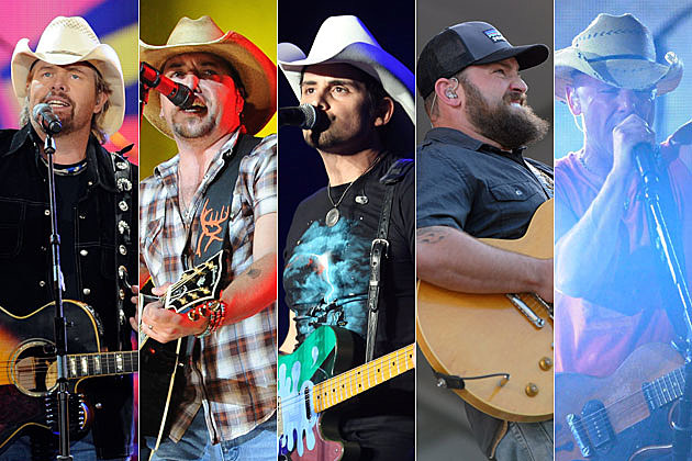 Toby Keith, Jason Aldean, Brad Paisley, Zac Brown, Kenny Chesney