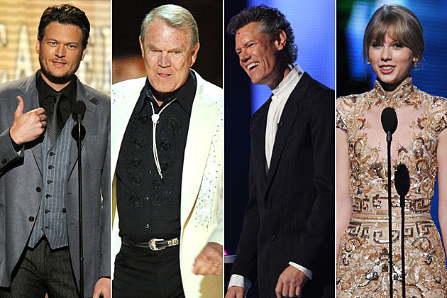 Blake Shelton, Glen Campbell, Randy Travis, Taylor Swift