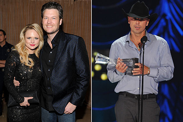 Miranda Lambert, Blake Shelton, Kenny Chesney