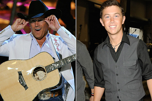 george Strait, Scotty McCreery