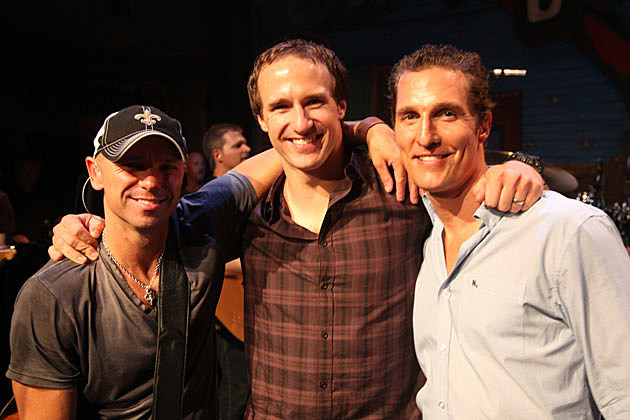 Kenny Chesney, Drew Brees, Matthew McConaughey