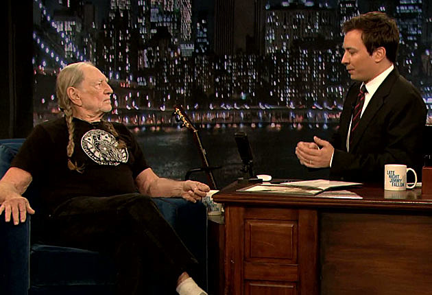 Willie Nelson Jimmy Fallon