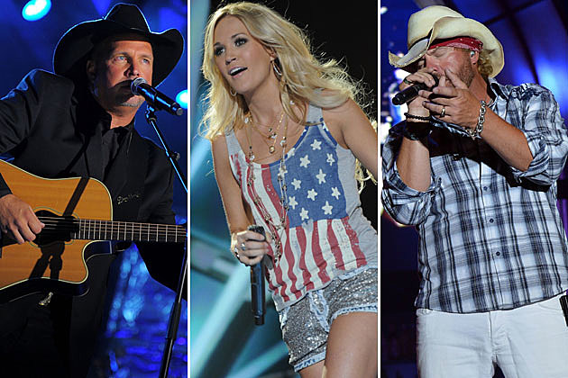 Garth Brooks, Carrie Underwood, Toby Keith