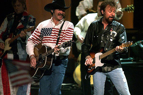 brooks and dunn  u2013 artists wearing the american flag