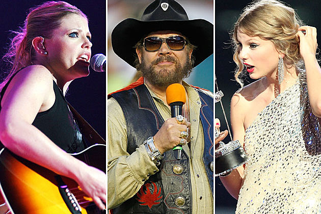 Natalie Maines, Hank Williams Jr., Taylor Swift