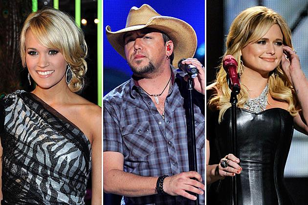 Carrie Underwood, Jason Aldean, Miranda Lambert