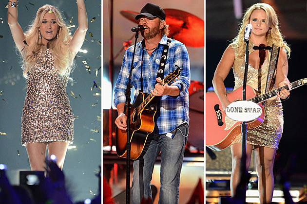 Carrie Underwood, Toby Keith, Miranda Lambert