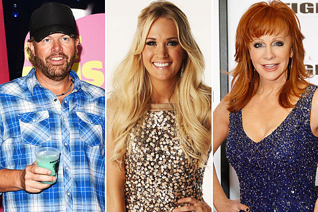 Toby Keith, Carrie Underwood, Reba McEntire