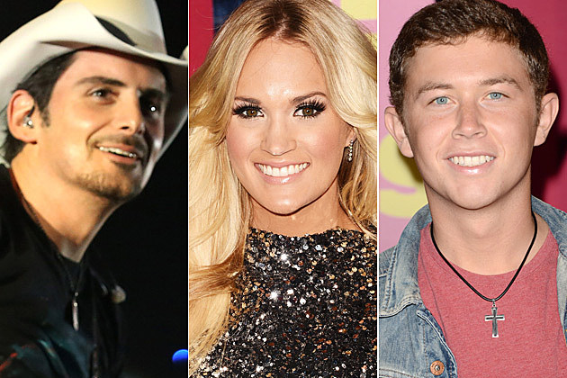 Brad Paisley Carrie Underwood Scotty McCreery
