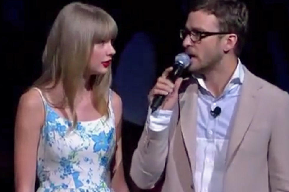Taylor swift awkwardly tells justin timberlake about her love of walmart m4hsunfo
