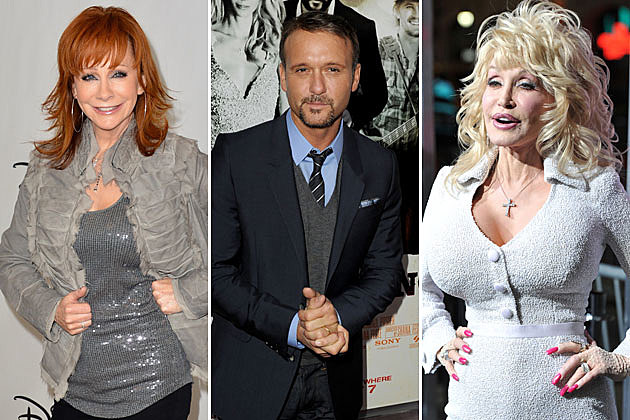 Reba McEntire, Tim McGraw, Dolly Parton