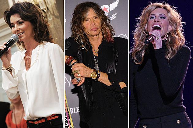 Shania Twain, Steven Tyler, Faith Hill