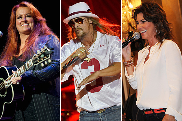 Wynonna Judd, Kid Rock, Shania Twain