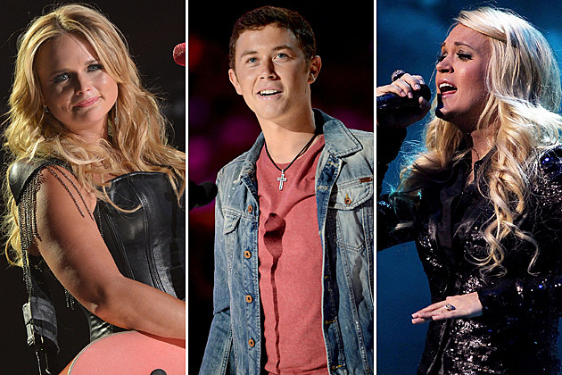Miranda Lambert, Scotty McCreery, Carrie Underwood
