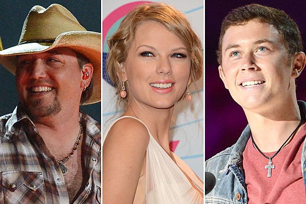 Jason Aldean, Taylor Swift, Scotty McCreery