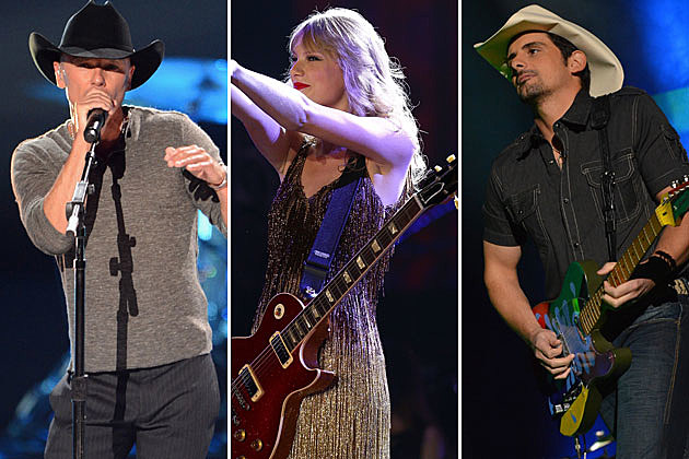 Kenny Chesney, Taylor Swift, Brad Paisley