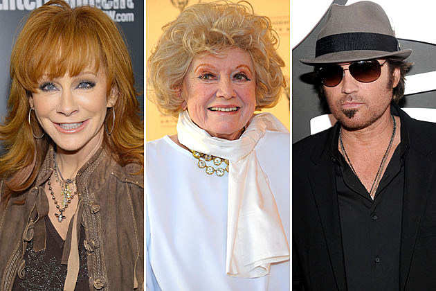 Reba McEntire, Phyllis Diller, Billy Ray Cyrus