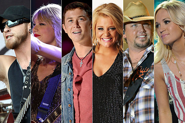 Brantley Gilbert, Taylor Swift, Scotty McCreery, Lauren Alaina, Jason Aldean, Carrie Underwood
