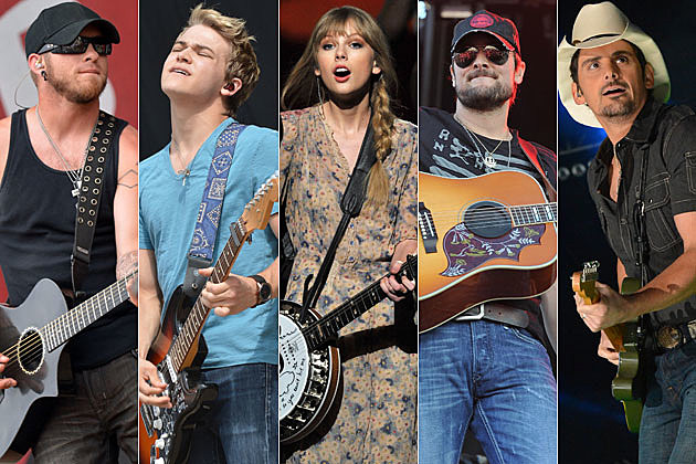 Brantley Gilbert, Hunter Hayes, Taylor Swift, Eric Church, Brad Paisley